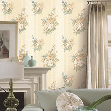 壁紙の壁装、現代的な花の純粋な紙の壁紙 – JPY ¥ 8,053
