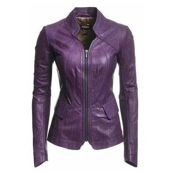 Danier women jackets blazers ❤ liked on Polyvore featuring outerwear, jackets, blazers, real leather jackets, purple blazer, purple jacket, 100 leather jacket and danier