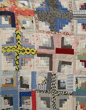 Vintage 1930s African American Missisippi Gee's Bend Style Quilt