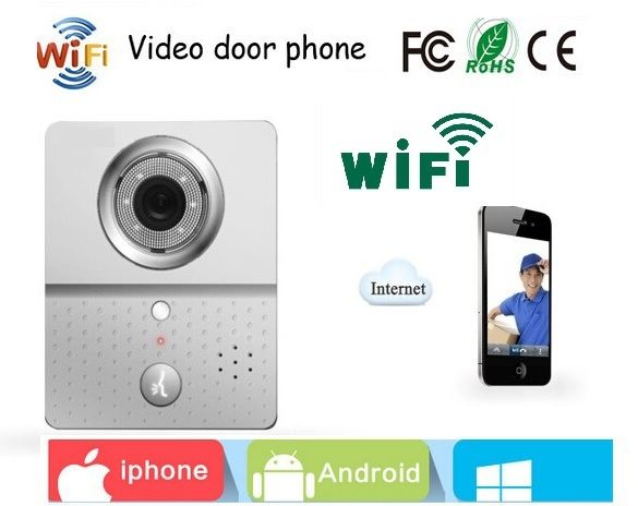111.98$  Buy here - http://ali8ix.worldwells.pw/go.php?t=32393052204 - Wifi door phone video eye 2.4GHz IR Night vision PIR Motion Sensor Anti-temper Alarm video intercom door viewer for Android iOS