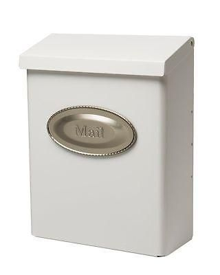 wall mount mailbox ideas large lockable home dorm solar group white antique bronze locking slot