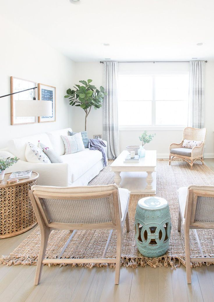 Bright And Airy Living Room Style Beachy Living Room Living Room Decor Coastal Living Rooms
