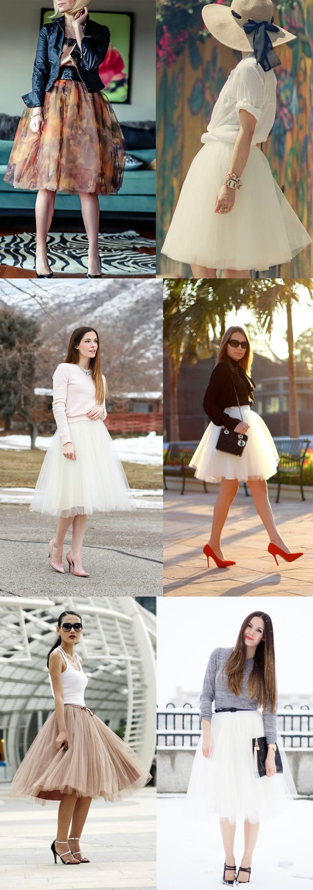 Tulle skirt combinations. Not sure if I could pull this off, but it looks super cute