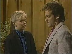 SANTA BARBARA: Eden Capwell (Marcy Walker) and Martin Ellis (John Wesley Shipp) in 1986.