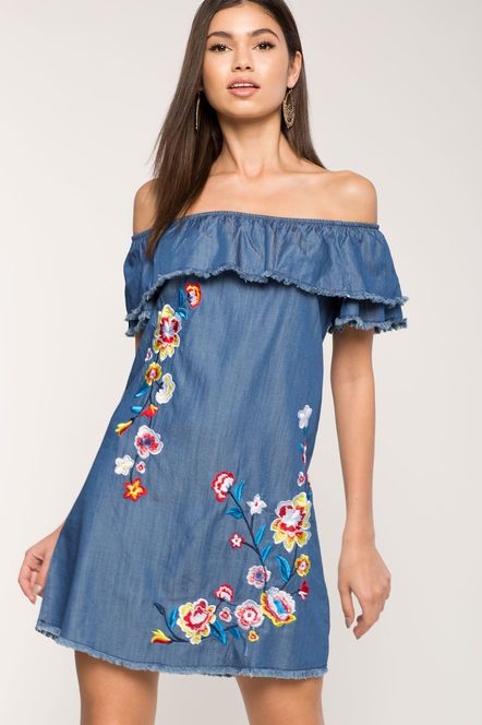 Fay Embroidered Shift Dress