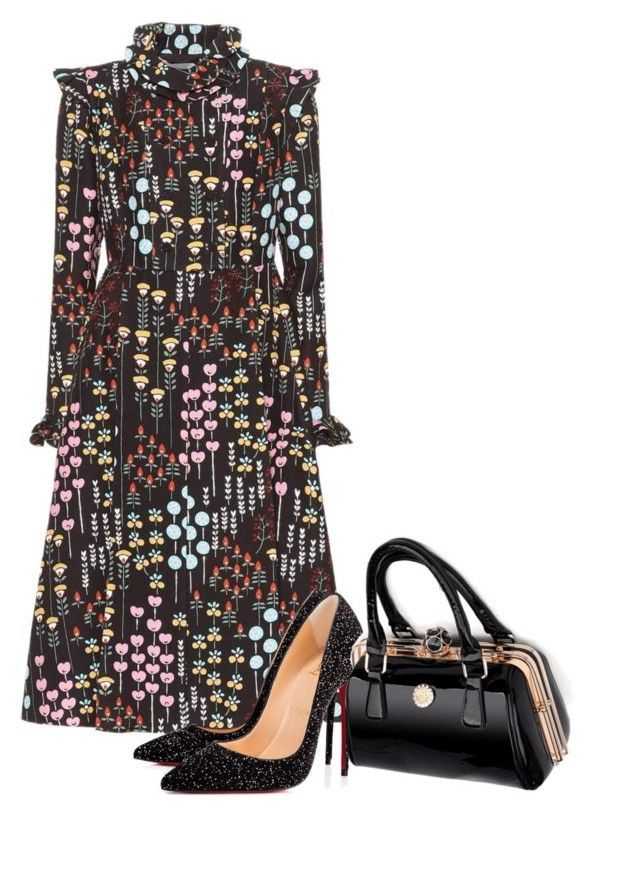 """""""Being Bold"""" by dlittlejohn on Polyvore featuring Valentino, Christian Louboutin, Pumps, dress and bag"""