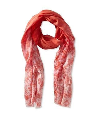 79% OFF Tahari Women's Ombre Abstract Snake Print Scarf, Coral