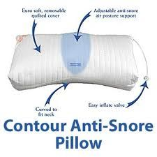 Anti Snore Pillow positions head and neck for improved airway alignment to  reduce causes of snoring.