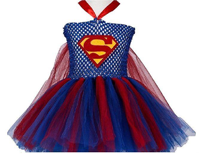 $27.50(ships free)- Super Woman Costume TuTu Dress #superwoman #halloween #supergirl #halloween2017 #girlsrule