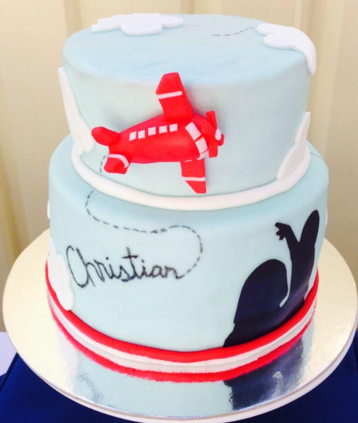 Airplane in Sky cake - cake #3