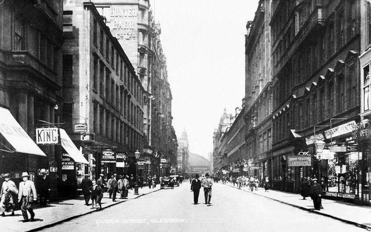 Queen Street, Glasgow 1925 Glasgow, Scotland, Street