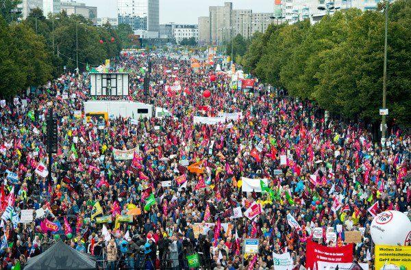 Demo against CETA and TTIP in Berlin.  (Photo: AP)