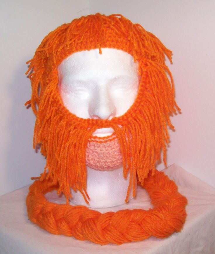 Bombur beard made of yarn (They actually have all of the dwarves beards on this site. They are crazy)