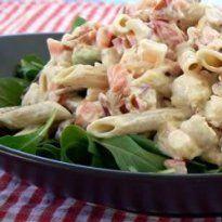 Receita de Salada de macarrão com camarão e abacate