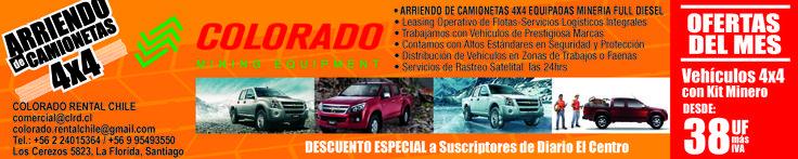 Promociones en renting de camionetas 4x4 equipadas minería de Chile.