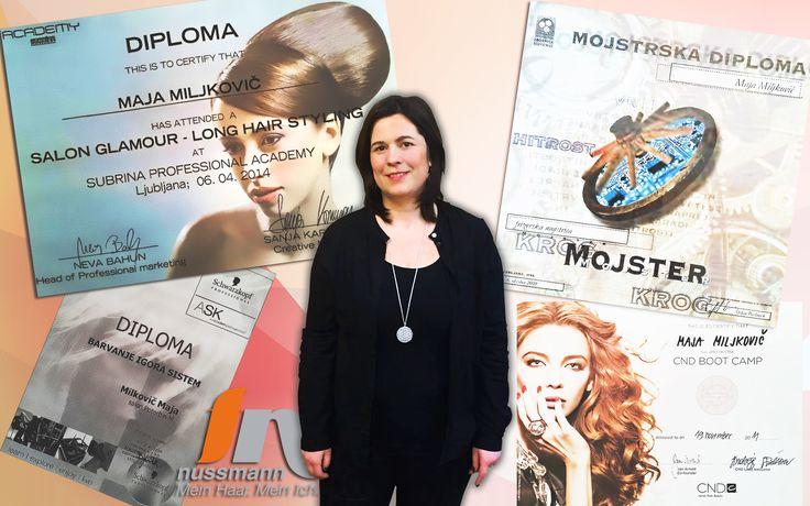 """Hallo! Ich bin die """"NEUE!""""  Mein Name ist Maja. Ich unterstütze seit 01. Februar 2017 das fn nussmann-Team als Stylistin. Aus beruflichen Gründen bin ich nach Bayreuth gezogen und freue mich sehr, in diesem faszinierenden Styling-Team arbeiten zu können. Danke an alle vom fn-Team, dass ihr mich so herzlich aufgenommen habt! Scharfe Schnitte und kreative Farb- und Strähnentechniken sind mein Markenzeichen. Denn ich bin mit Leib und Seele Friseurin!  Ihre/eure Maja vom fn nussmann Team"""