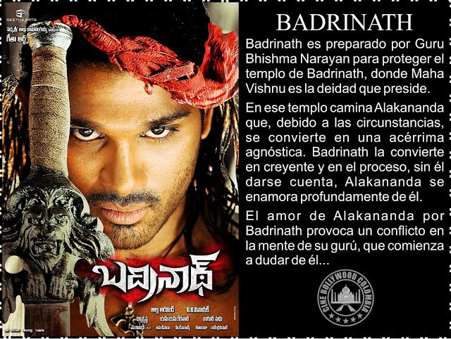 Cine Bollywood Colombia: BADRINATH