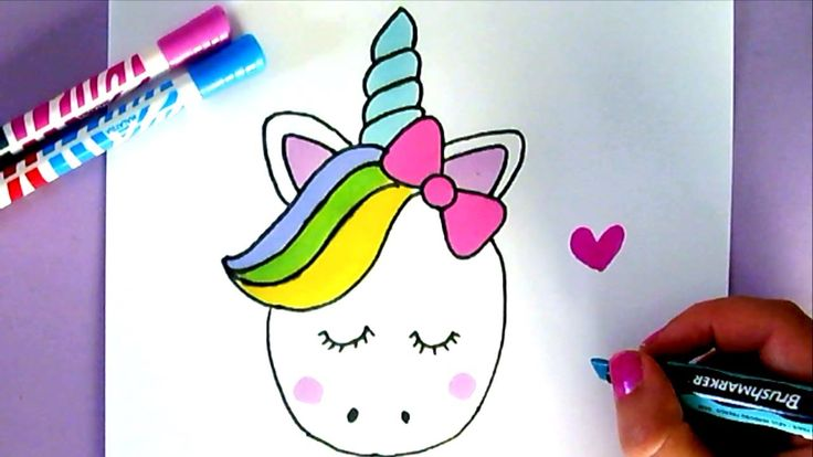 HOW TO DRAW A CUTE UNICORN - YouTube