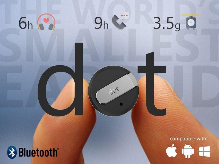 Dot - World's Smallest Bluetooth Headset (Suspended) by Ivan Kan —Kickstarter