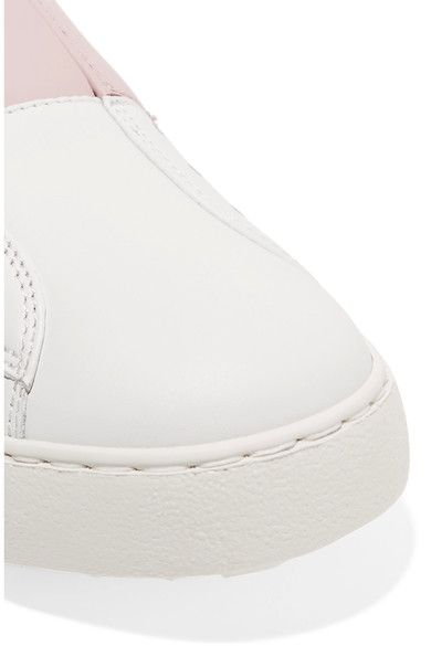 Valentino - Leather Slip-on Sneakers - White - IT