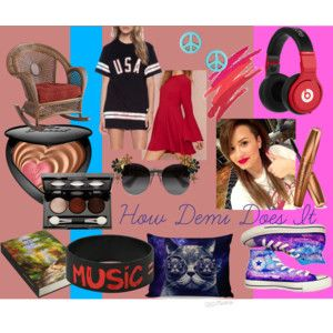 """How Demi Does It"" by mandyjanem on Polyvore"