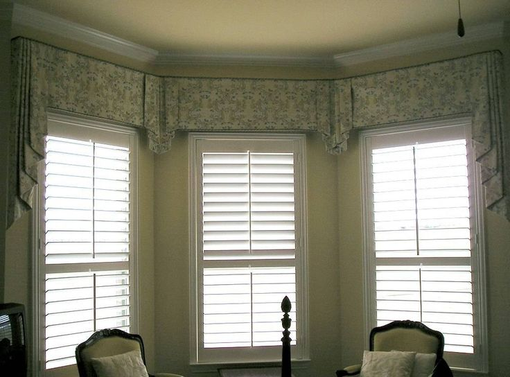 Home Design And Decor , Beautiful Bay Window Valances : Bay Window Valances  Flat Floral Valances