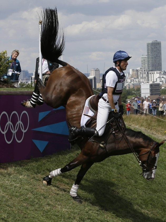 Olympics Cross-Country--Look at how centered he stays over the saddle!