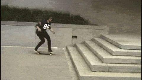 Try it. | #skatedeluxe #sk8dlx #skateboarding #trick #gif #stairway