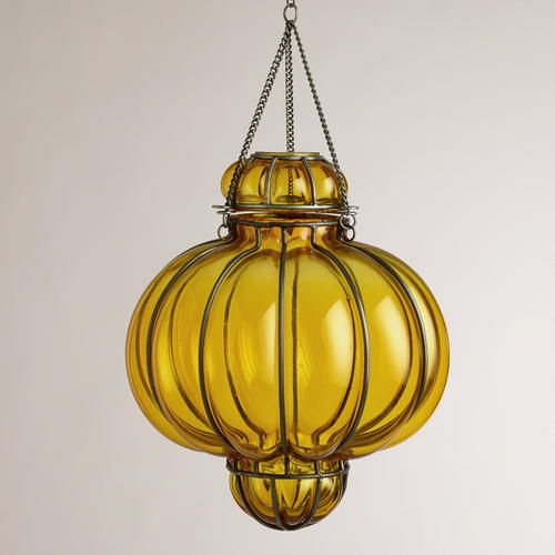 One of my favorite discoveries at WorldMarket.com: Yellow Glass Venetian Pendant