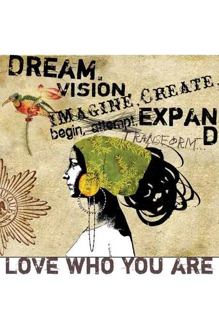 Yes! Love this from artist Anahata Katkin. Wish I had looked at these words everyday when I was a teenager. :: Dream Giclee by Papaya!