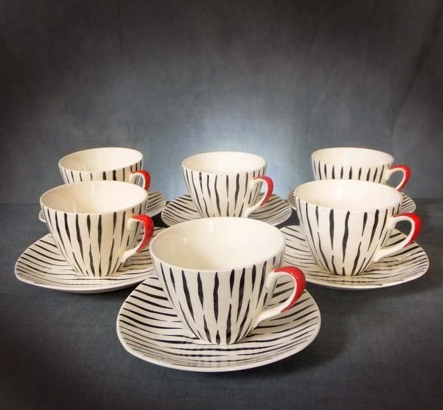 LOVELY MIDWINTER STYLECRAFT COFFEE SET in the ZAMBESI PATTERN by JESSIE TAIT