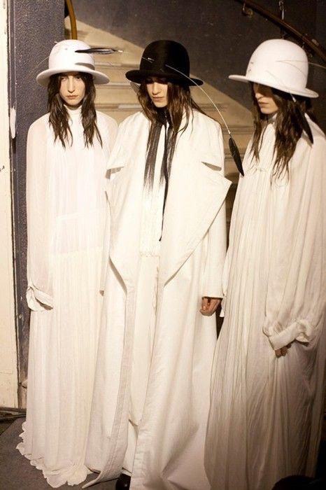 Ann Demeulemeester AW13: http://www.dazeddigital.com/fashion/article/17949/1/ann-demeulemeesters-most-subversive-moments