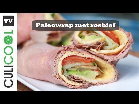 Paleowrap met rosbief en avocado - CULICOOL
