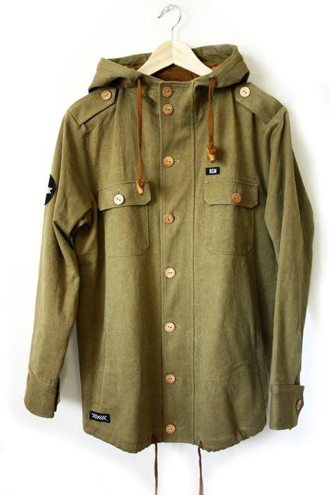 RCM CLOTHING / CITY FISHER JACKET  Sustainable Hemp Wear, 55% hemp 45% organic cotton twill http://www.rcm-clothing.com/