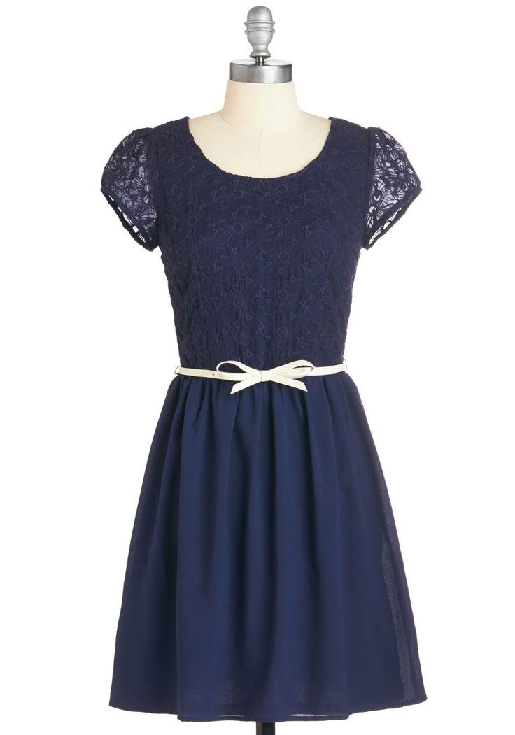 Subtly Sweet Dress in Navy | Mod Retro Vintage Dresses | ModCloth.com