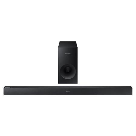 Саундбар HW-K360  — 11990 руб. —  Аудиосистема Samsung HW-K360 представлена двумя элементами –колонкой и стильной панелью управления. Комплект беспроводной техники отличается стильным соврменным дизайном. Он создает вокруг себя двухканальную систему за счет портативного сабвуфера и обеспечивает высокое качество звука. Функция TV SoundConnect легко синхронизирует аудиосистему с телевизором и выбирает оптимальные настройки. Видеоряд на экране получает звуковое сопровождение, максимально…