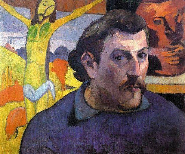 Paul Gauguin (1848-1903)  Selfportrait 1889.   Gauguin was een Franse kunstschilder. Zijn werk wordt meestal gekenschetst als postimpressionistisch, dat van na 1891 als symbolistisch.