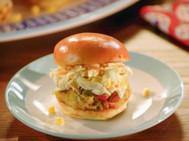 Get Crab-Boil Sliders with Homemade Coleslaw Recipe from Food Network