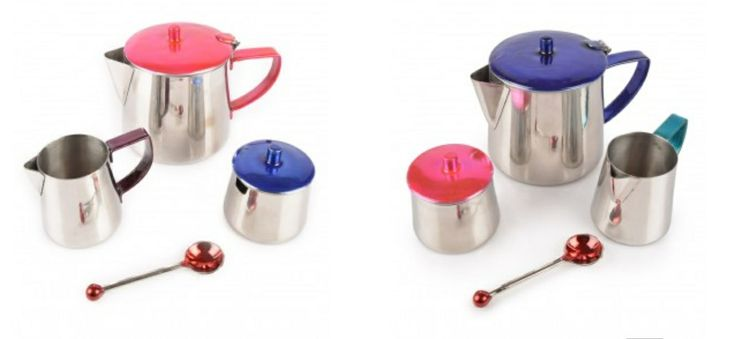 Enamelled Tea Sets, mix and match, stainless steel from Tiffinware.com