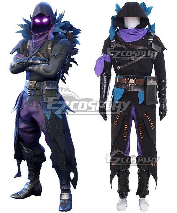 6271682343bbc Fortnite Battle Royale Raven Halloween Cosplay Costume