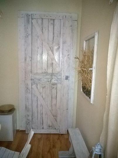 Dinning room , door made from pallets