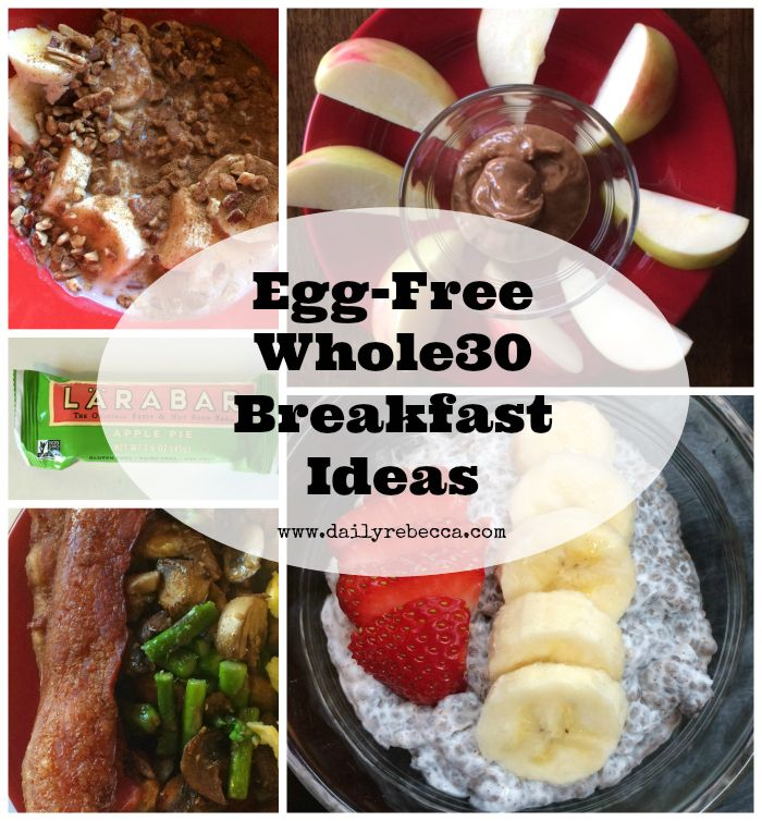 Want to do Whole30 but don't like eggs? No problem! Here are a few Egg-Free Whole 30 Breakfast Ideas