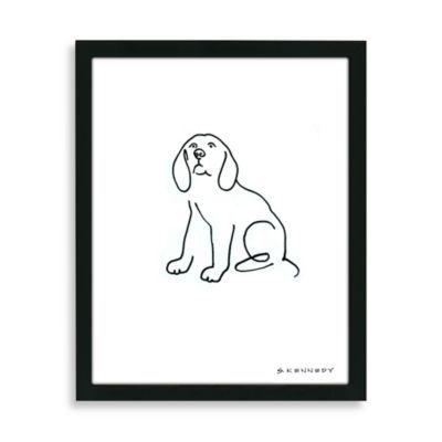 Beagle Framed Line Drawing - BedBathandBeyond.com