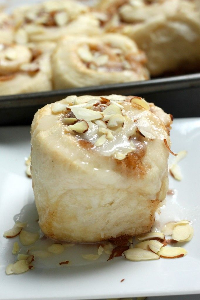 Triple Almond Sticky Buns - soft, fluffy, and packed with almond flavor!!!