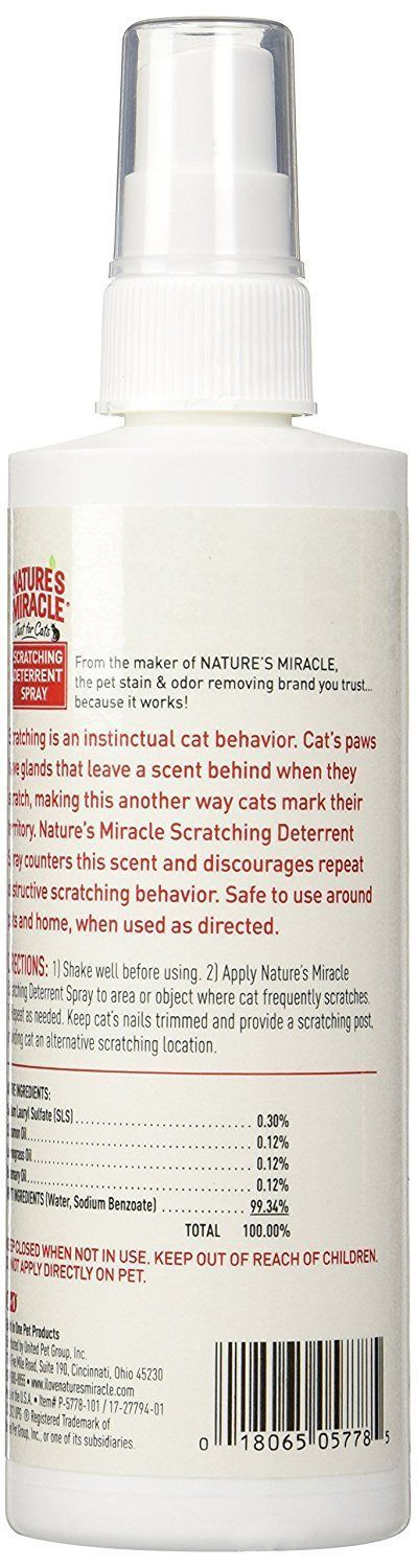 Nature's Miracle No-Scratch Cat Deterrent Spray ** Check this awesome product by going to the link at the image. (This is an affiliate link) #PresentsforCats #CatSprayingProducts