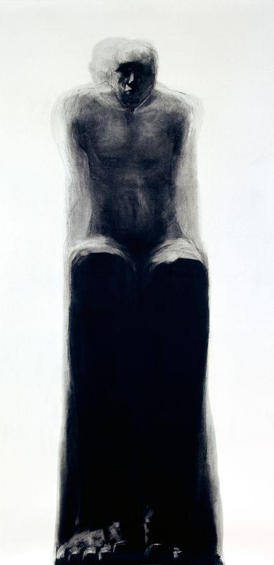 Charcoal on paper, Lorene Taurerewa,