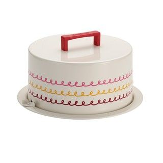 """Cake Boss Serveware Metal Cake Carrier, """"Icing"""", Cream 
