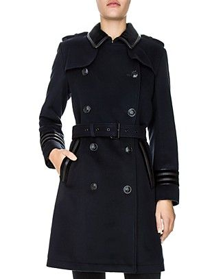 The Kooples Tibetan Double-Breasted Coat