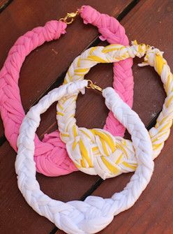 T-Shirt Time! This DIY Turns Your Old Tees Into A Nautical-Cool Necklace+#refinery29