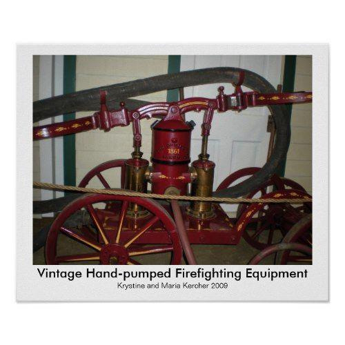 Hand-pumped Firefighting Equipment Print